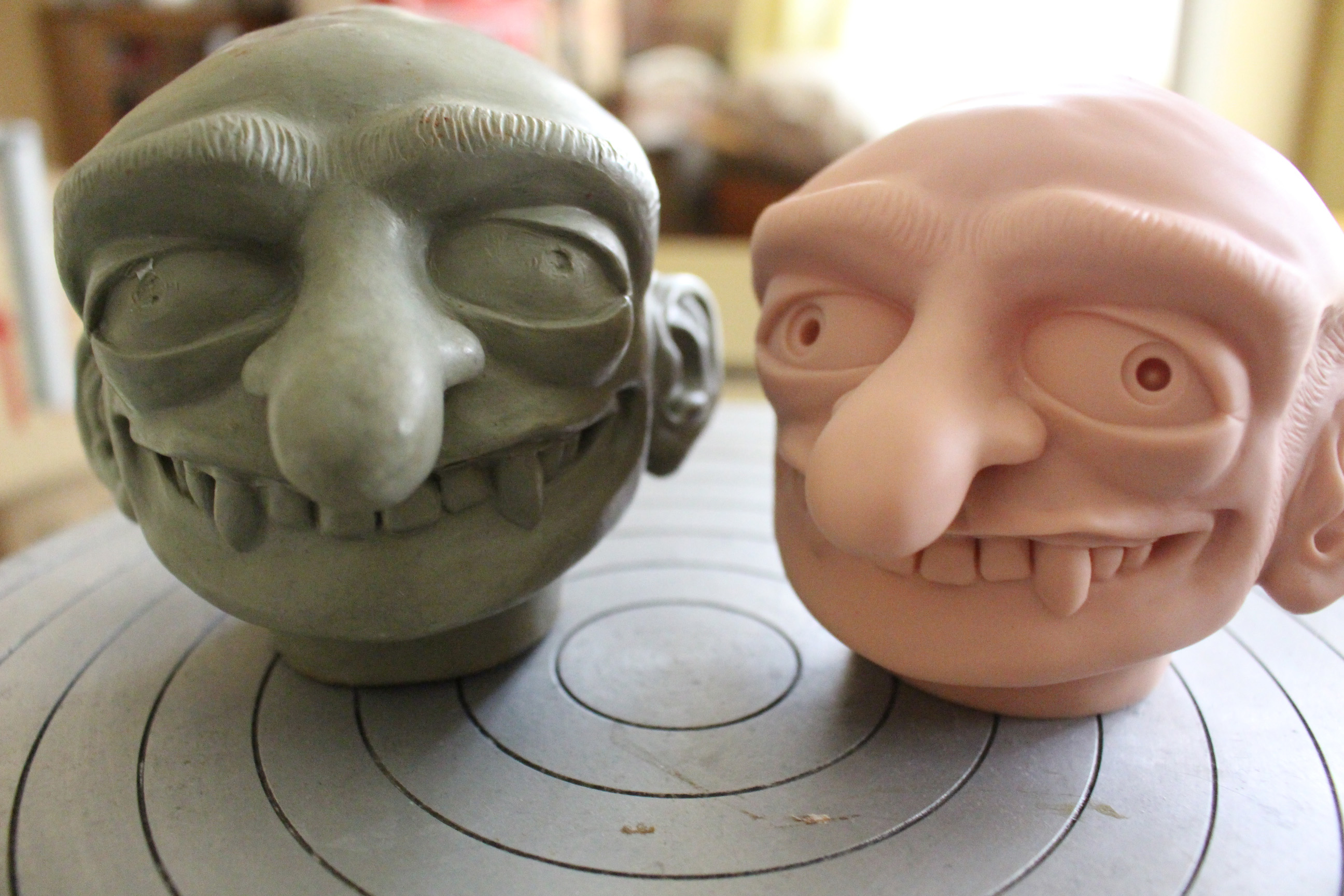 Mr. Hyde prototype and first vinyl head.